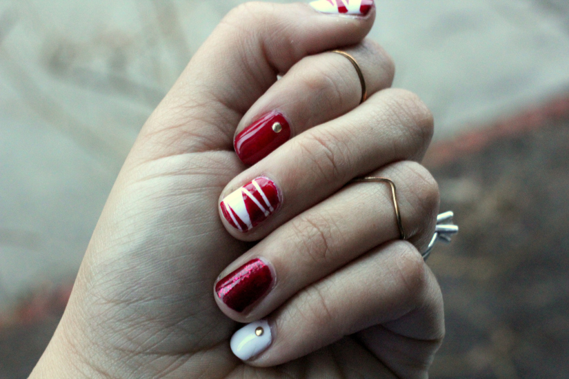 The combination of red and white
