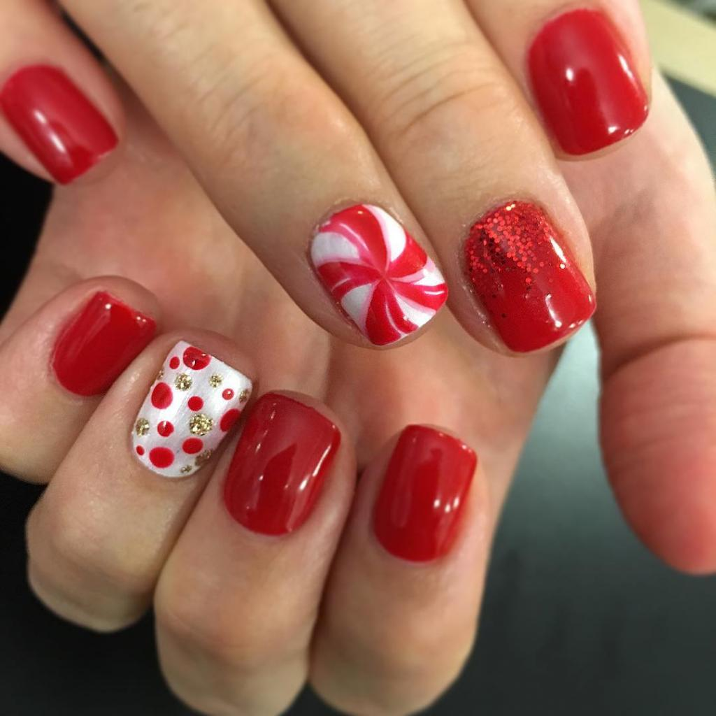 Red and white caramel
