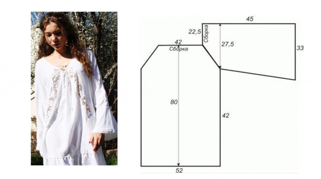 Ночная рубашка: выкройка, выбор модели, размеры. Женская ночная рубашка