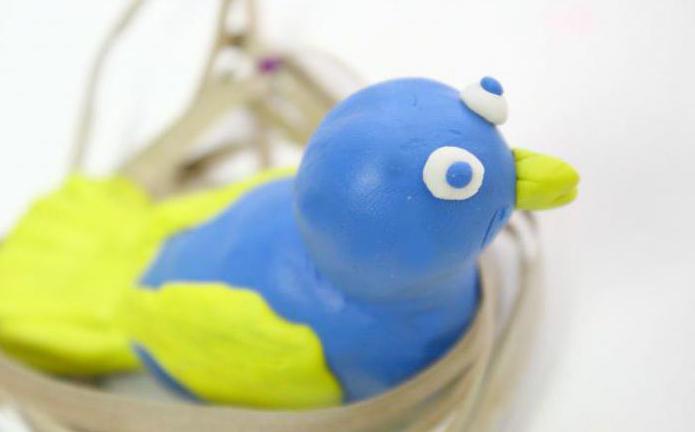 как слепить птичку из пластилина