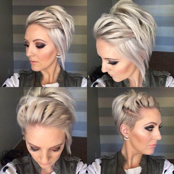 Прическа на коротких волосах