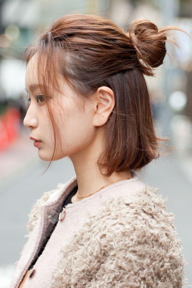 Пучок на коротких волосах