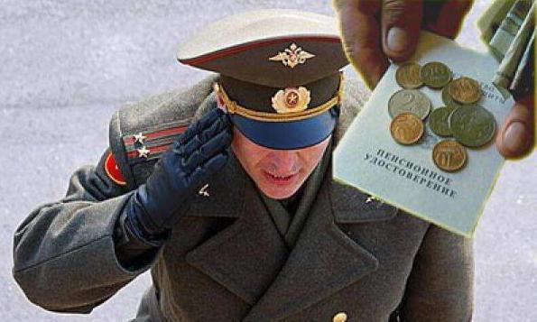 Расчет пенсии сотрудника мвд