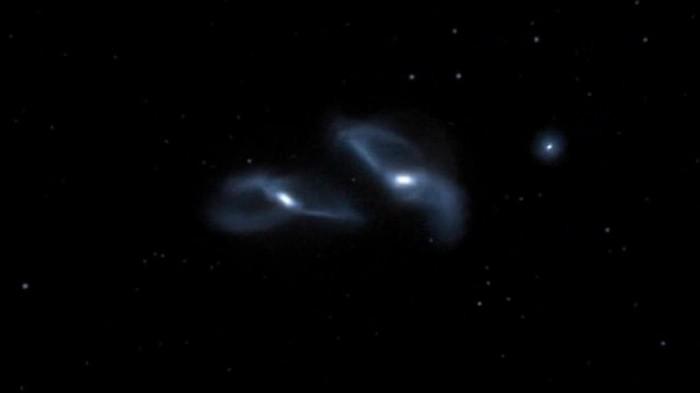 Андромеда галактика столкновение