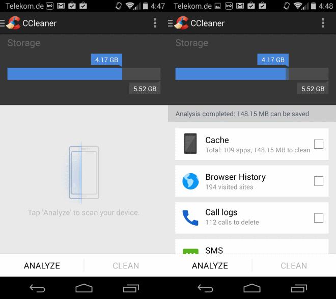 Программа CCleaner на Андроид