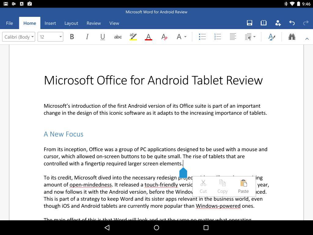 Microsoft Office на Андроид