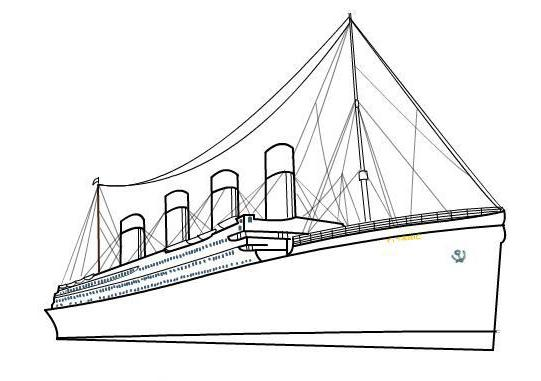 How to draw the Titanic in stages