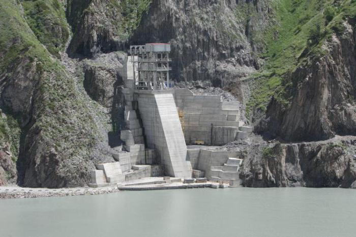Зарамагская ГЭС, местоположение