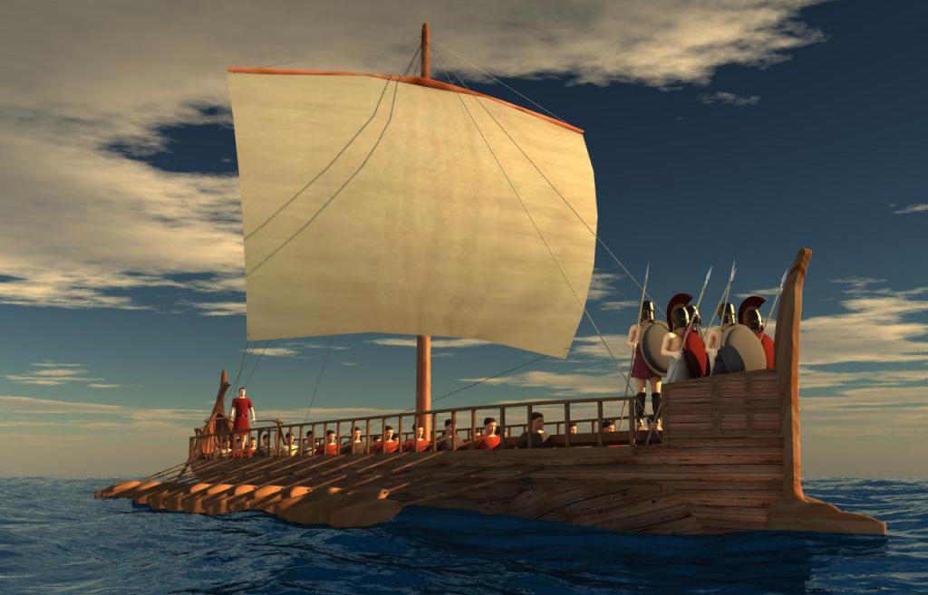 Отличие древнегреческих от современных кораблей