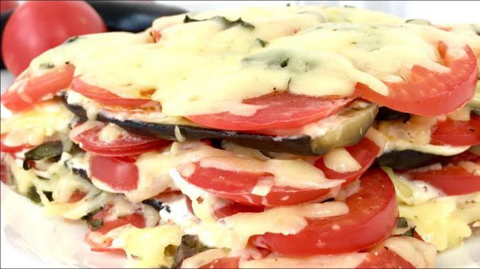 рецепт овощного торта из баклажанов