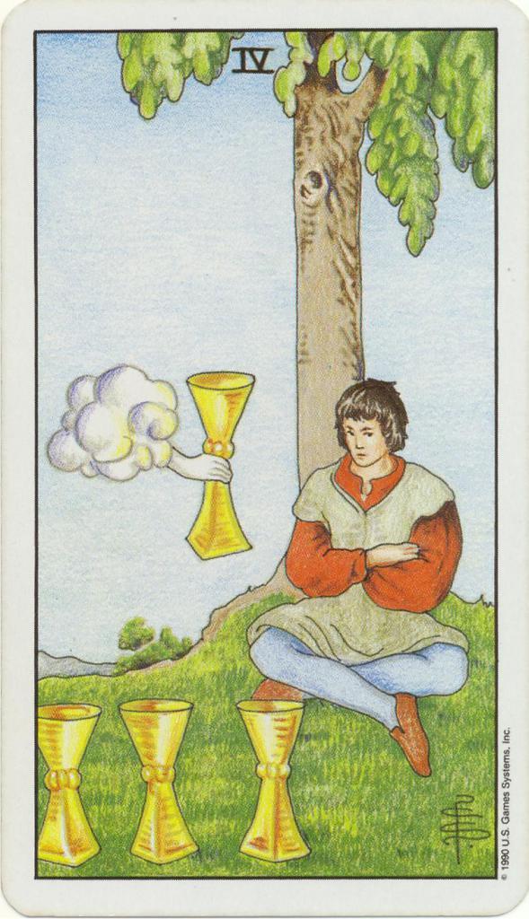 Tarot Card Value Four Cups