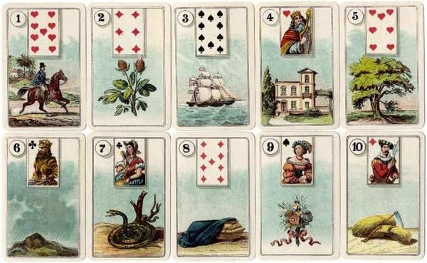 Tarot lenorman combination of cards