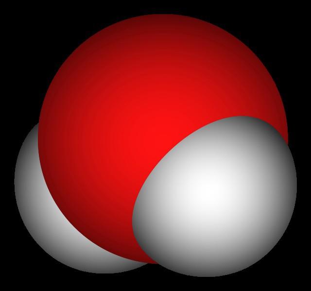 на какие атомы делится молекула воды в физике