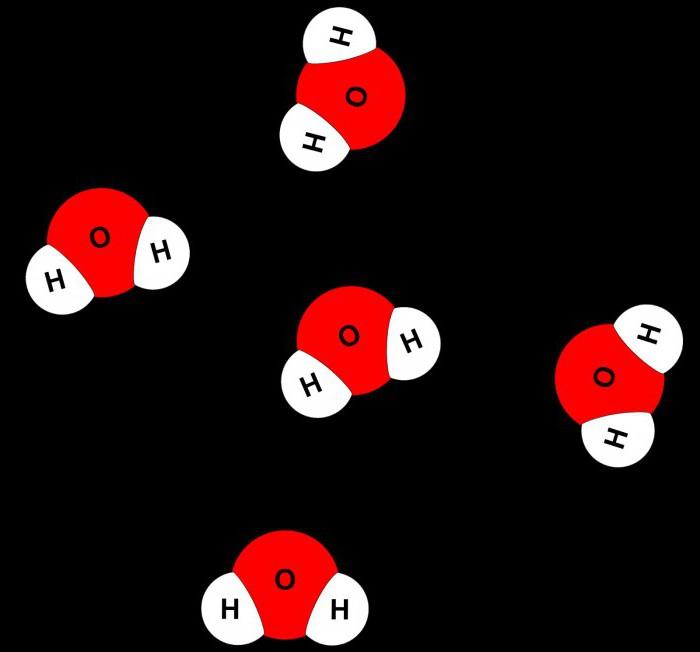на какие атомы делится молекула воды физика