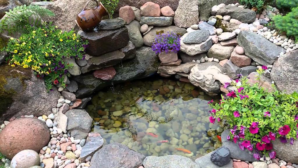 бассейн из колеса для рыб