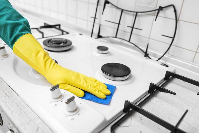 как очистить плиту от жира