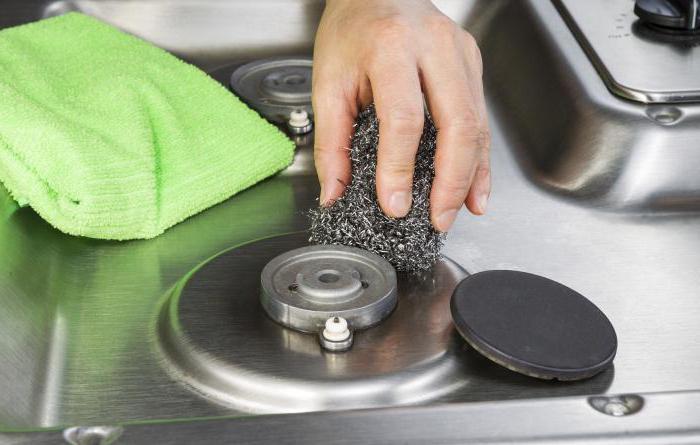как очистить решетку на газовой плите