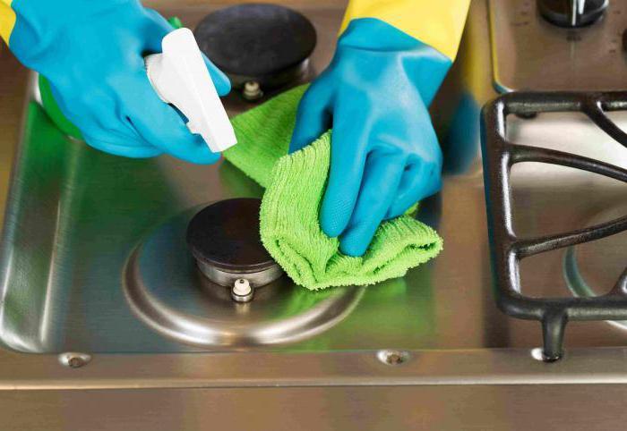как очистить газовую плиту в домашних условиях