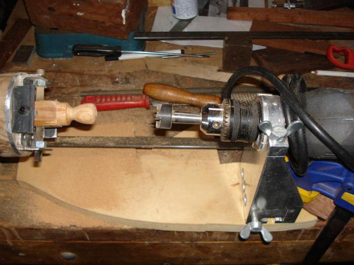 набор для токарного станка из дрели