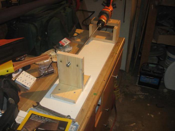 самодельный токарный станок из дрели