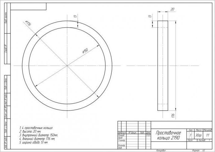 проставочные кольца размеры