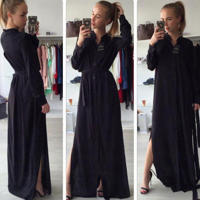 черная платье рубашка с чем носить