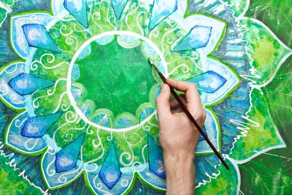 A good way to meditate on the chakra is to draw a corresponding mandala.