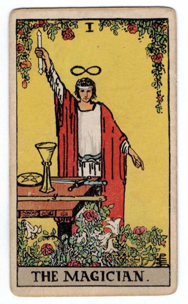 Tarot mage card