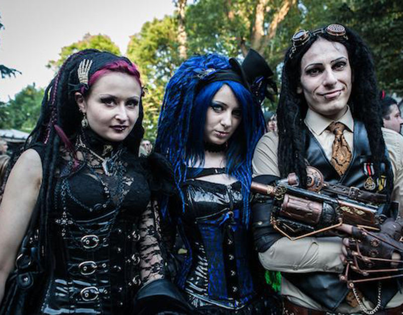 A variety of subculture - steampunk goths