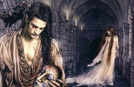 Gothic artworks are similar to illustrations for sad tales.