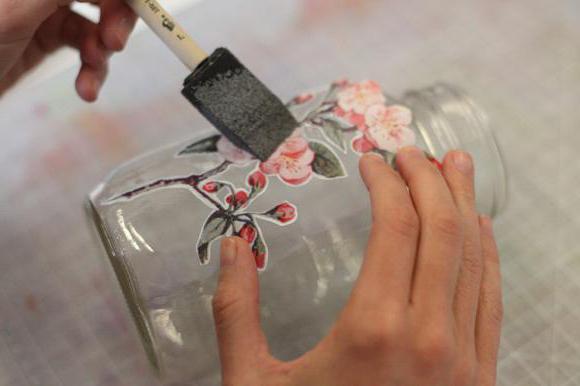 декорирование стеклянных банок