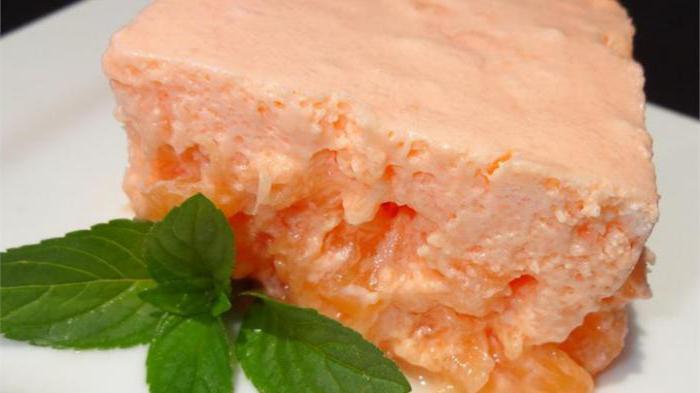десерт из творога и желатина без выпечки