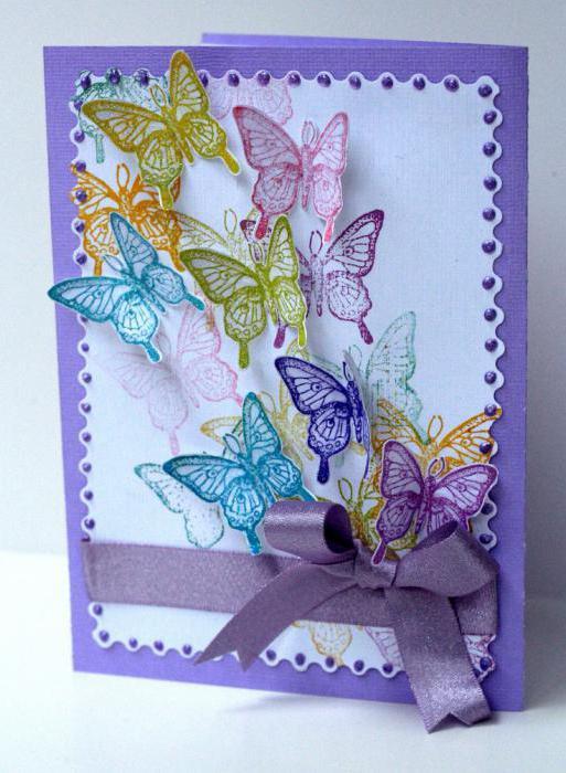как украсить открытку для мамы