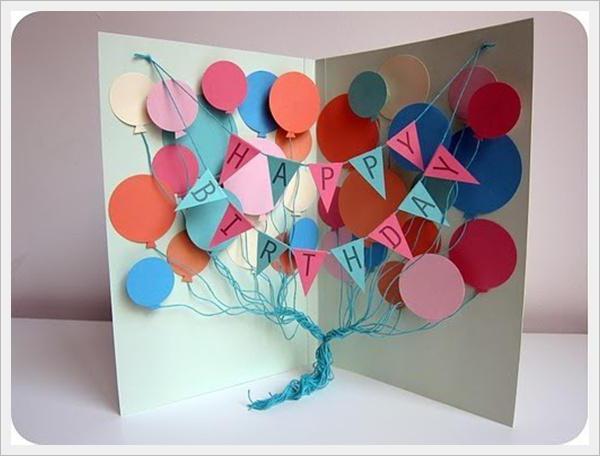 Открытки к дню рождения ребенку своими руками