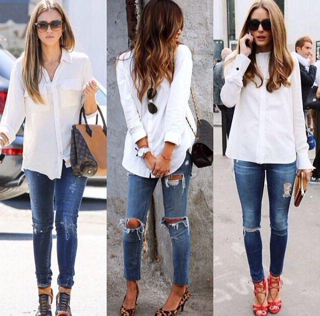 как порвать джинсы на коленках
