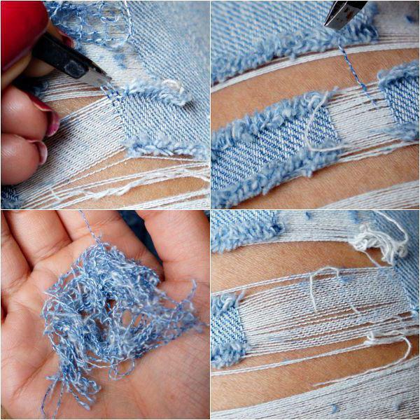Как сделать на джинсах дырки в домашних условиях