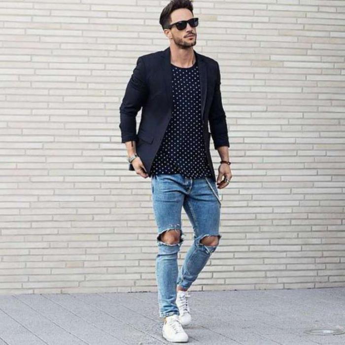 как порвать мужские джинсы на коленках