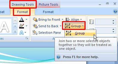 Как сгруппировать картинку и текст в ворде, картинки для карты