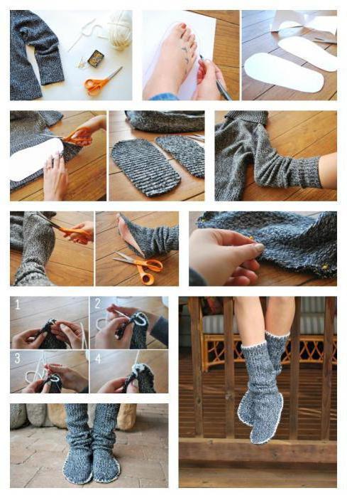 выкройка домашних тапочек сапожек