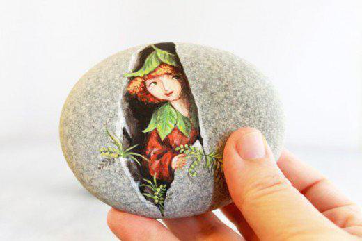 роспись камней своими руками