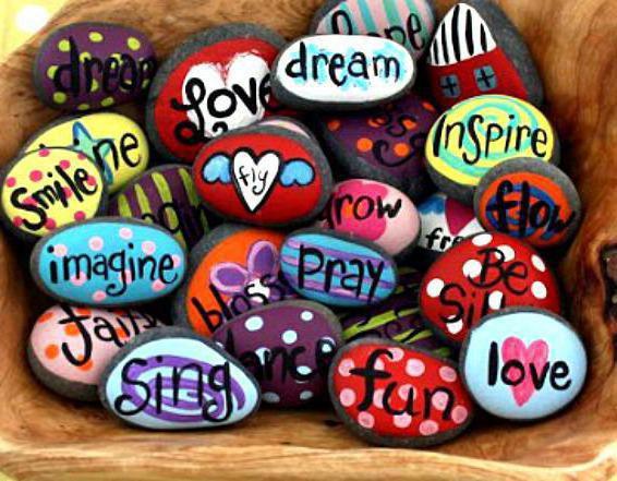 художественная роспись камней