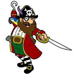 нарисовать пирата поэтапно