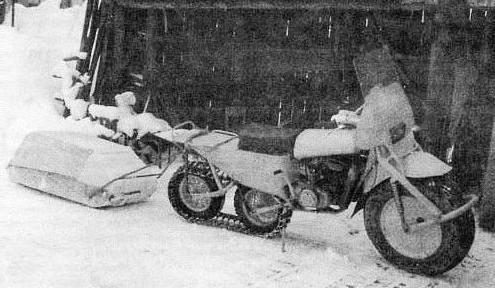 гусеница на мотоцикл
