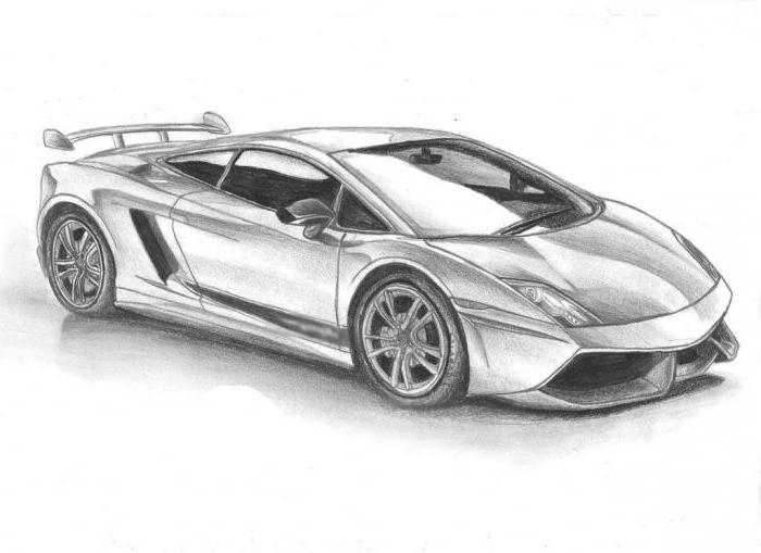 Lesson for beginners: how to draw a Lamborghini