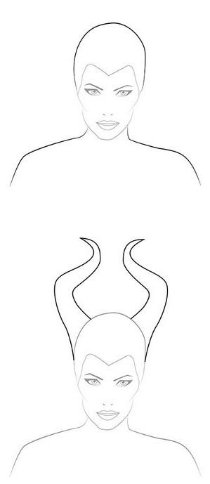 как нарисовать малефисента карандашом