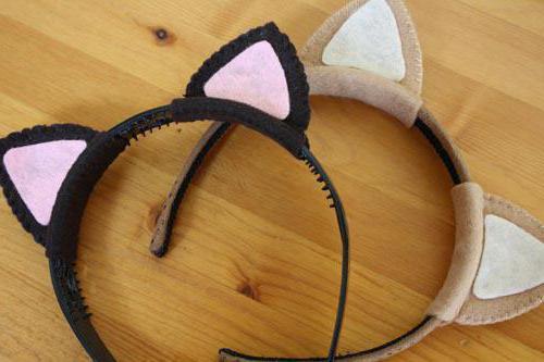 Как сделать кошачьи уши
