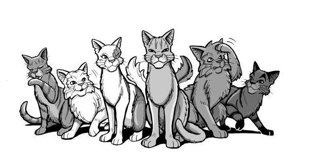 как рисовать котов воителей