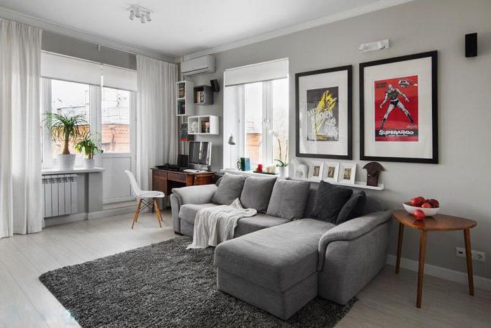 интерьер в стиле минимализм в маленькой квартире