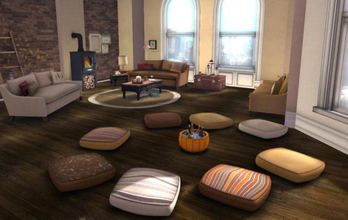 подушки на пол