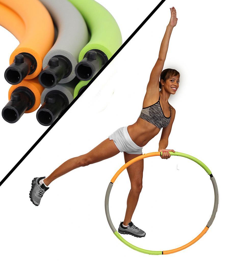 кручение обруча для похудения до и после